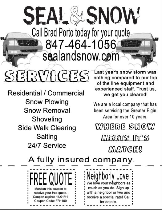 Seal & Snow, Inc. - Snow Plowing Services